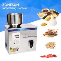ZONESUN 2 200g quantitative machines automatic powder tea filling machine Medicine Wolfberry granule food filling machine