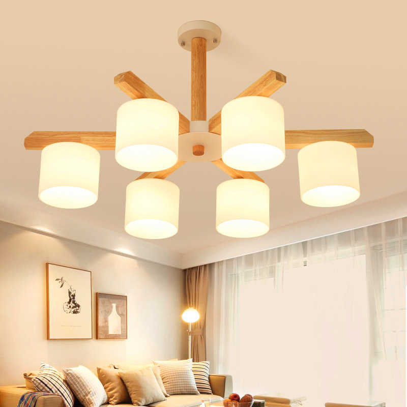 Nordic Retro Kayu LED Pendant Lampu untuk Ruang Makan Cincin Lampu Kilau Dapur Lampu Lampu Dapur Lampu Gantung
