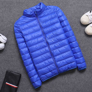 Image 5 - 2019 frühling/Herbst Männer Nehmen Jacken Mode Leichte, Tragbare Stehkragen Plus Größe 5XL Männliche Ente Unten Mäntel Freiheit verkauf