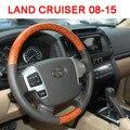 Nova Liga de Alumínio Da Roda de Direcção Com Madeira Para Toyota Land Cruiser 200 Acessórios 2008-2015