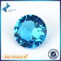 100 pcs 5.0-12mm Escuro SeaBlue Cor Forma Redonda Máquina de Corte Solto Pedra de Vidro Azul Gemas Sintéticas Para Jewlry
