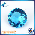 100pcs 5.0-12mm Dark SeaBlue Color Round Shape Machine Cut Loose Blue Glass Stone Synthetic Gems For Jewlry