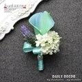 Тиффани синий Искусственный Калла свадьба невеста/жених свадебный корсаж/бутоньерка невесты наручные цветы Невесты цветка руки