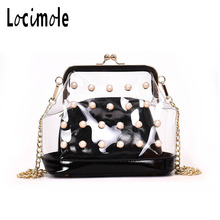 Locimole Women Summer Beach Bag PVC Clear Transparent Purse Peal Small  Shoulder Bags New Designer Jelly 18b87ea4f1929