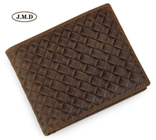 J.M.D Classic Design Genuine Leather Men's Fashion Purse Card Holder Card Slots Photo Holder New Causal Style Wallet 8098C 2018 card holder personalityleather standard wallet new limited edition leather personalized design classic mafia pattern ha