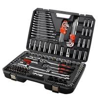 155pcs 6.3 10 12.5MM Socket Set Wrench Ratchet Handle Reversible for Vehicle Auto Tool Kit Car Repairing Combination TUV GS