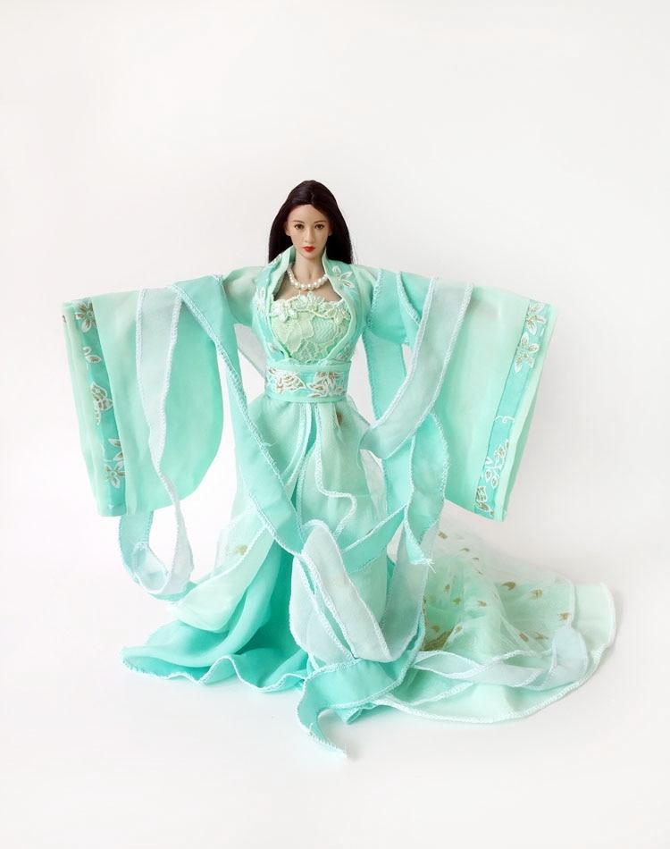 1/6 Scale Ancient Dress Clothes Models Women Long Dress for 12 Figures