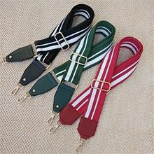 For Handbags Women Shoulder Bag Parts Accessories 120cmDetachable Bag Strap Striped Handles Replacement Buckle Belts Ornament