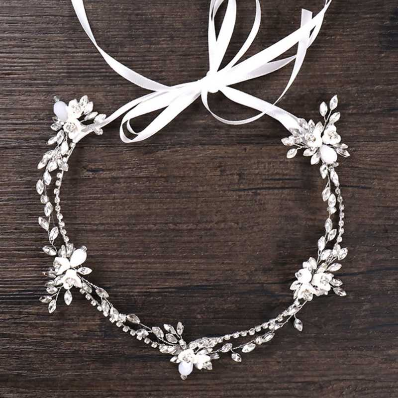 JAVRICK Тонкая Повязка на голову роскошный ободок Девушки Женщины Хрустальное свадебное украшение Для женщин свадебные аксесуары для головных уборов аксессуары для волос