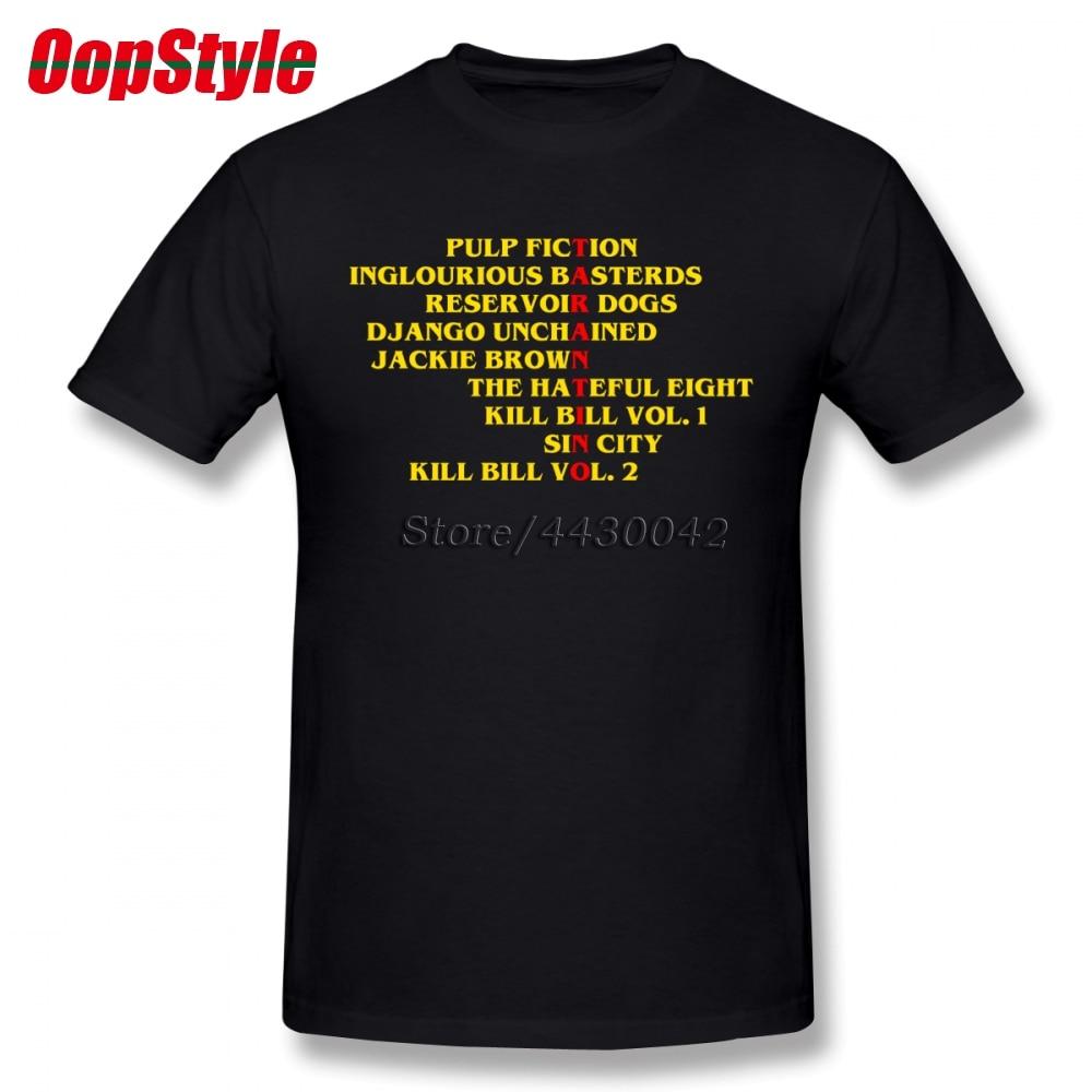 Quentin Tarantino Films T-shirt For Men Dropshipping Summer Short Sleeve Cotton Plus Size Custom Team Tee 4XL 5XL 6XL
