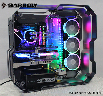 Barrow Acrylic Board as Water Channel use for Zidli ZG06 Computer Case for Both CPU and GPU Block RGB 5V 3PIN Waterway Boards