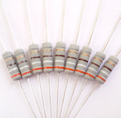 1 w 390 ohm 390R ohm 390r ohm 100% Original Novo Fixo Resistência Resistores de Filme de Óxido De Metal resistor +/-5% (200 pcs)