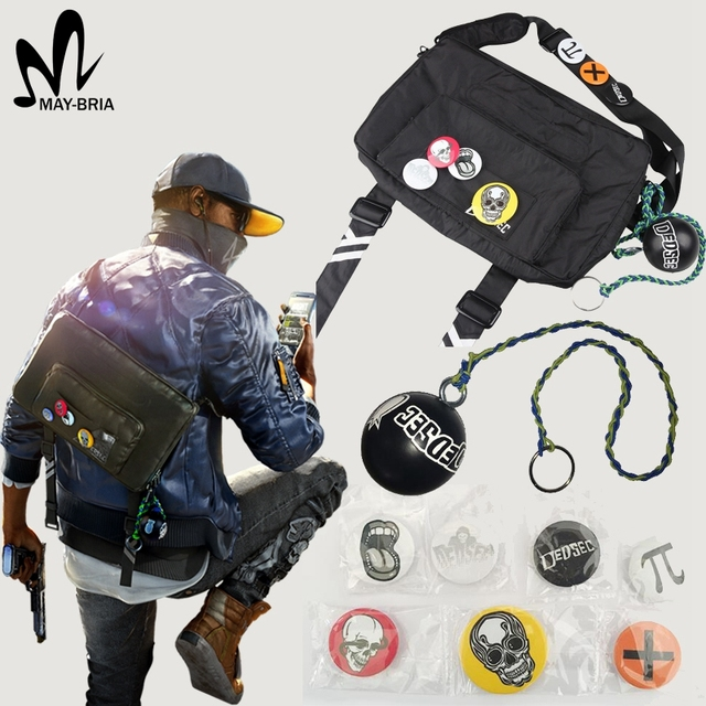 Game Watch Dogs cosplay costume accessories Watch Dogs bag