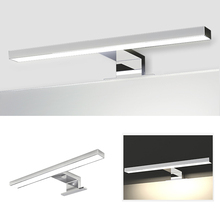 AC110 240V LED ayna ön ışık 5W 8W Modern su geçirmez anti sis banyo aynası lambası 2835 32/48LED basit duvar kabin lambası