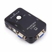 2 Port USB KVM VGA/SVGA Switch Box for Sharing PC Mouse Keyboard Monitor