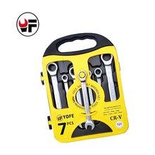 7PCS/set Matte ratchet wrench set,Plastic frame, spanner set