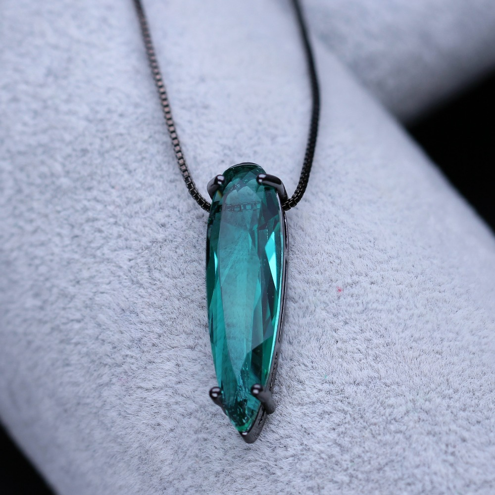 New Green pendant necklace water drop shape necklace shiny glass crystal party jewelry for women NDF001242 lelady crystal necklace drop pendant fashion necklace