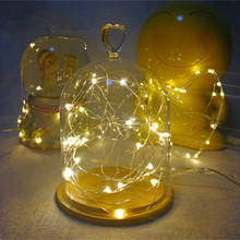 2m 20LED Copper Wire String Light Garland Wedding Decoration Lamp Party Home Accessories Party.Q