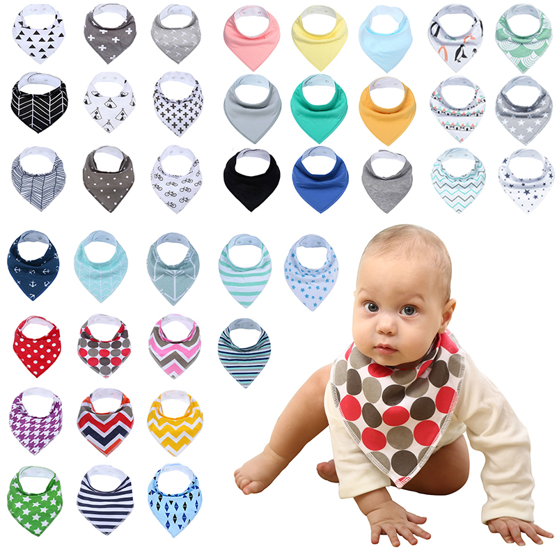 12-Pack / Lot 100% Cotton Bandana Bibs for Drooling Teething Newborn Infant Adjstable Snaps Absorbent Baby Bibs miracool neck bandana re usable 100 s of times keeps you cool red 2 pack