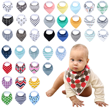 12 Pack / Lot 100% Cotton Bandana Bibs for Drooling Teething Newborn Infant Adjstable Snaps Absorbent Baby Bibs