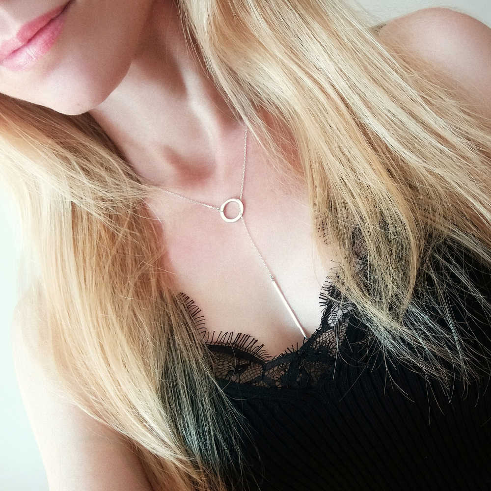 Commercio All'ingrosso di Stile Coreano in Acciaio Inox Completo di Emanco Collane per Le Donne Bokep Kolye Collana Del Pendente Dei Monili di Modo
