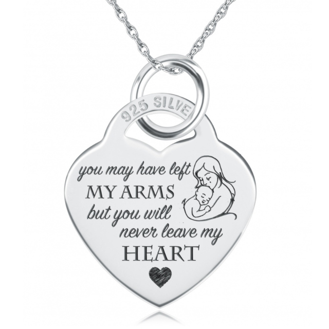 Gnx14608 custom engraved necklace 100 fine 925 sterling silver gnx14608 custom engraved necklace 100 fine 925 sterling silver pendants necklaces mom always in aloadofball Images