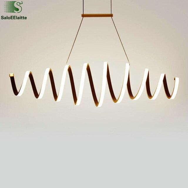 Moderne Turm Aluminium Led Pendelleuchten Esszimmer Led Beleuchtung