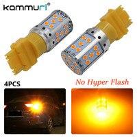 KAMMURI (4) Fehlerfrei Kein Hyper Flash Bernstein Blinker 3156 3056 3357 3057 T25 Led-lampen Für Vorne oder Hinten Blinker