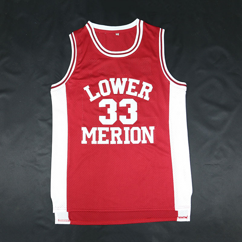 cb59387d413 Cheap BRYANT Throwback Basketball Jersey  33 LOWER MERION Red Retro  Stitched Basketball Jerseys Mens Shirts Camiseta Baloncesto