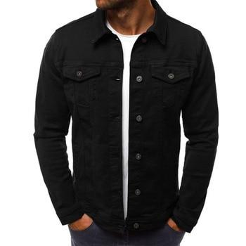 2019 men's Jacket casual overalls jacket jacket Coats Man Buttons 1