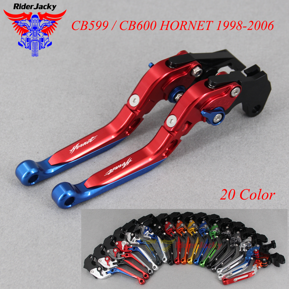 CNC Extendable Foldable Motorcycle brake Clutch Levers For <font><b>Honda</b></font> CB 599 CB599/CB600 CB <font><b>600</b></font> <font><b>HORNET</b></font> 1998-2006 <font><b>2005</b></font> 2004 2003 2002 image