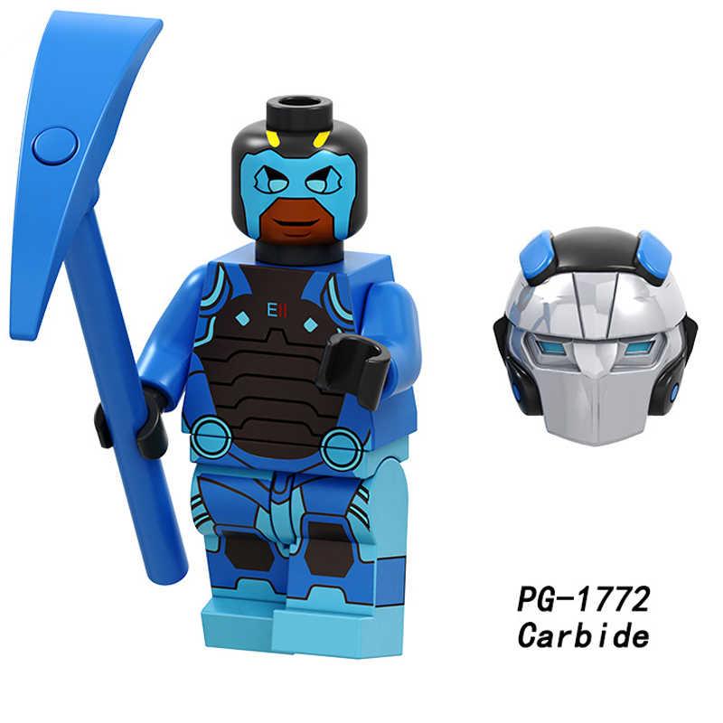 ขายเดียวอาคารบล็อกเริ่มต้นผิวเบอร์ 1 Omega Tracker Blue ทีมผู้นำ Battlehawk ตัวเลขอิฐของขวัญของเล่นเด็ก PG8202