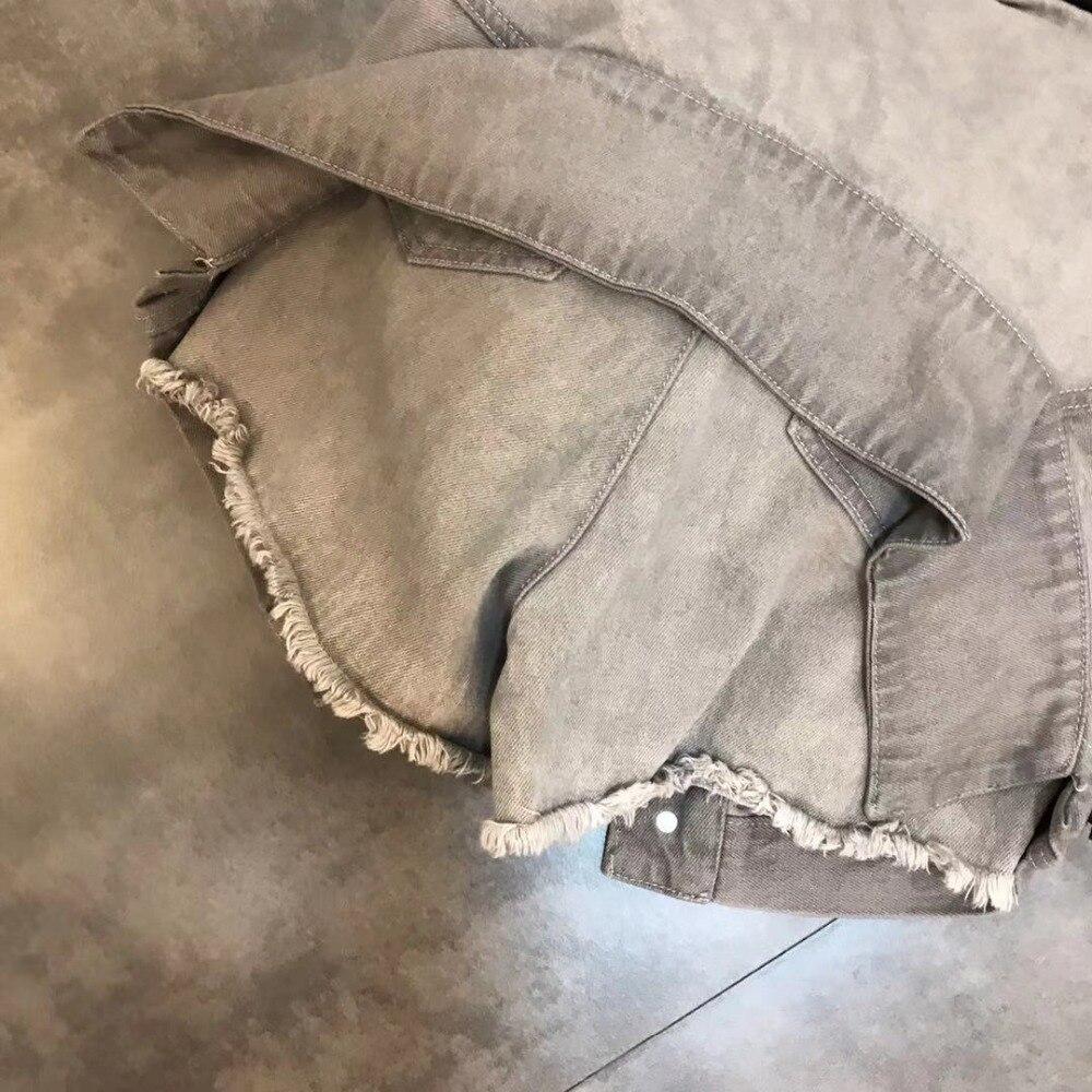 Luoanyfash шорты на шнуровке с высокой талией джинсовые шорты для женщин высокая уличная летняя Дизайнерская одежда 2019 Новый модный стиль - 5