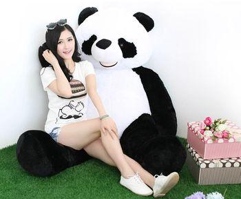 stuffed toy , huge 180cm Gaint panda doll plush toy , soft hug pillow toy surprised birthday gift h2912