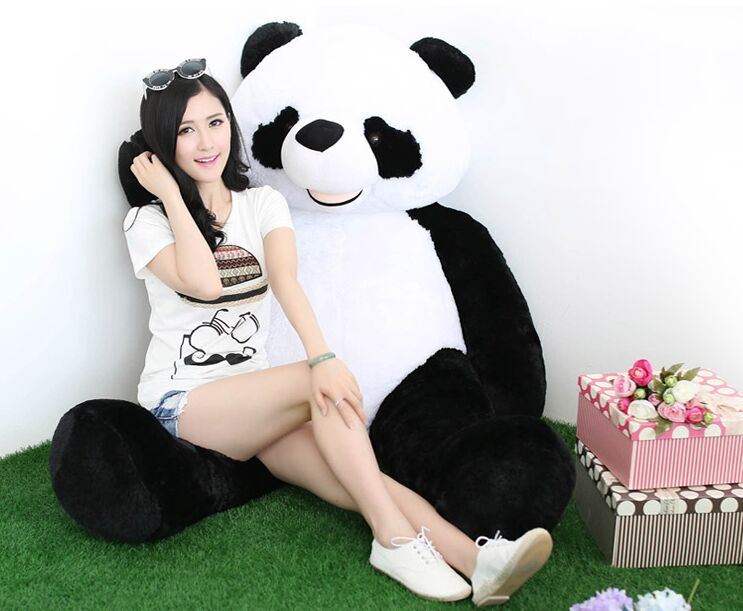 stuffed toy , huge 180cm Gaint panda doll plush toy , soft hug pillow toy surprised birthday gift h2912 40cm super cute plush toy panda doll pets panda panda pillow feather cotton as a gift to the children and friends
