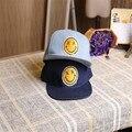 Verano nueva moda pasta de smiley hip-hop sombrero de vaquero gorra de béisbol plana sombrero del snapback m128