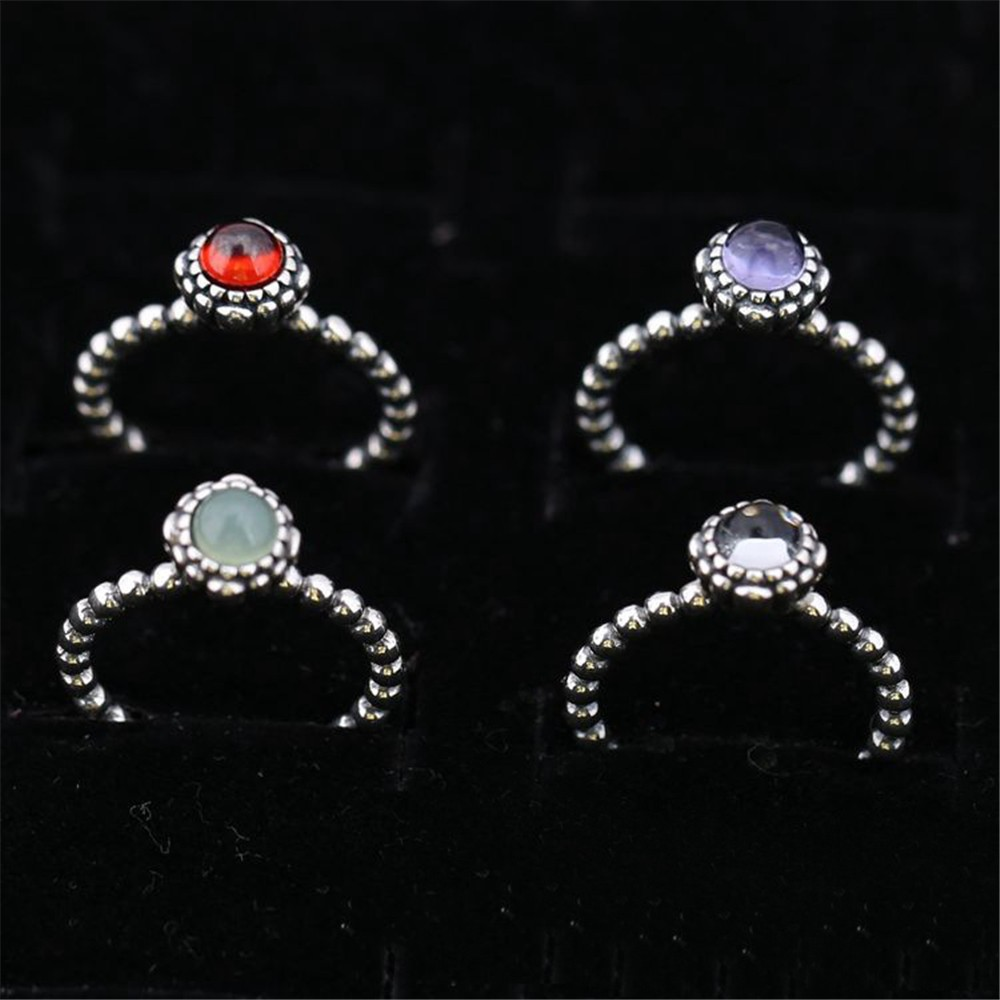 December Original Authentic 925 Sterling Silver Pink Opal ...