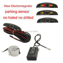 Nuovo sensore di parcheggio Elettromagnetico, con 3 colori LED display e cicalino di allarme, non forato non forato freeshipping