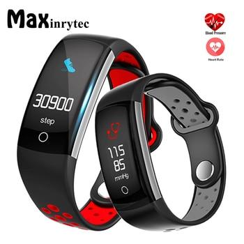 47a41615a409 E6 Fitness Tracker pulsera inteligente HR pulsera Fitness Sleep Tracker  impermeable IP68 Activity Tracker para Android