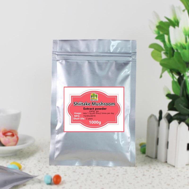 1000g extrait de champignon Shiitake pur de haute qualité en poudre, Lentinus edodes, xiang gu, amélioration de la fonction immunitaire, livraison gratuite