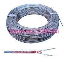 Temperatury termoparą typu K pleciony drut ze stali nierdzewnej tarcza drutu termopary odszkodowania drutu 2*0.2