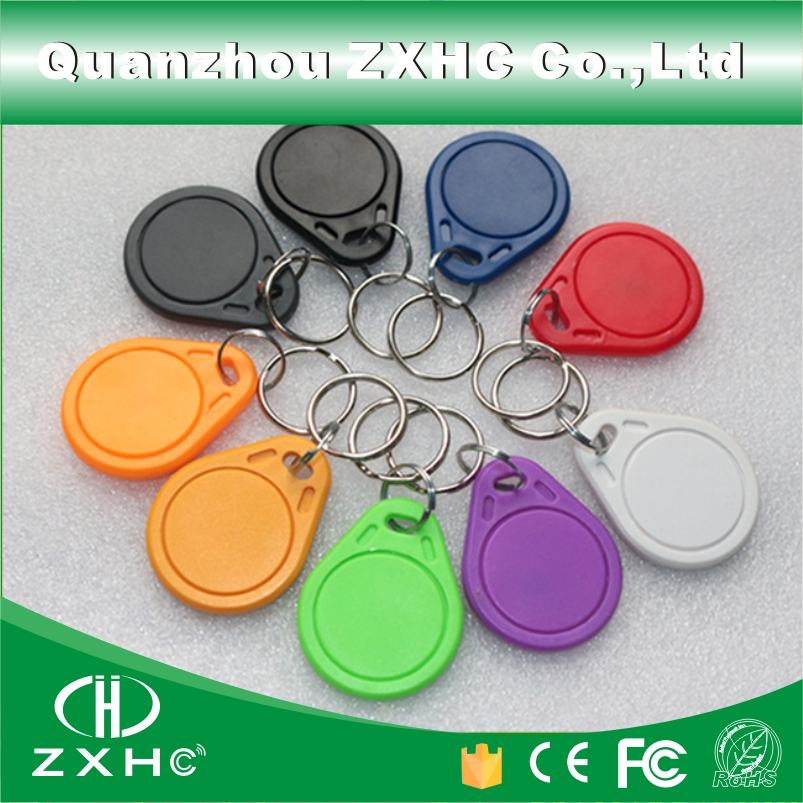 (10 Teile/los) Wasserdichte Rfid Abc Keyfob Keychain Schlüssel Finder 13,56 Mhz Access Control-card