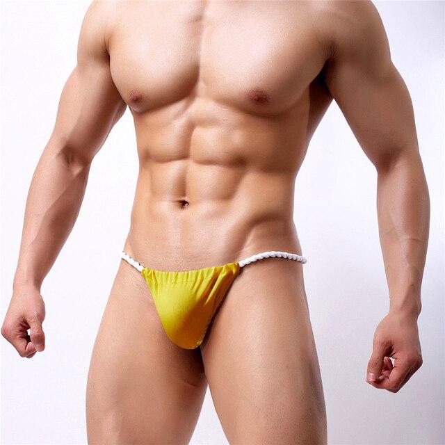 f9b589353f00 Sexy Men G String Thong Bulge Pouch Panties Micro Bikini T-back Underwear  Pants Brief