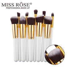 10 Women's Makeup Brush Set Foundation Cream Blush Eye Shadow Makeup Concealer Cosmetic Tools Eye Shadow Brush Cosmetic Set(China)