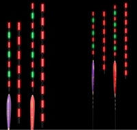 Albacore color changed LED night fishing float green to red when fish on