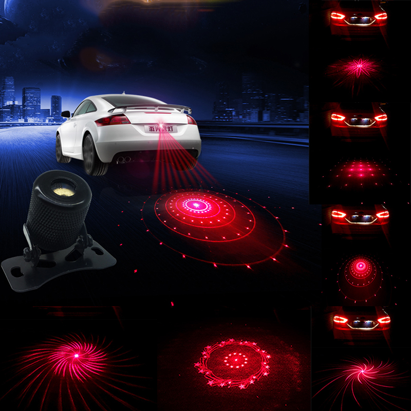 1Pcs Car Anti Collision Rear-end Car Laser Tail Fog Light Auto Brake Parking Lamp Rearing Warning Project one light 6 mode CE car rear tail warning lamp for ford edge 2015 2016 external automobiles for anti collision rear end auto safe driving lights