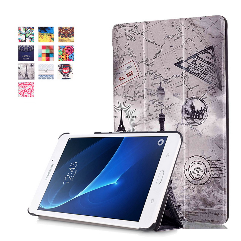 Multicolor Cover for Samsung Tab A6 7.0 2016 Case,Flip PU Leather Tablet Case for Samsung Galaxy Tab A T280 T285 7.0inch+Stylus new fashion tab s3 9 7 tablet case pu leather flip cover for samsung galaxy tab s3 9 7 inch t820 t825 cute stand cover 6 colors