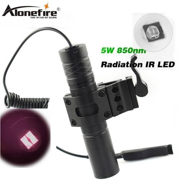 Alonefire 5 Вт факел 850nm Зум инфракрасного излучения ик-светодиодами Ночное видение фонарик Отдых на природе света Охота ИК лампы светодиодные ir01
