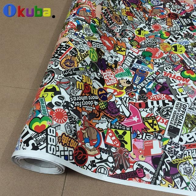 Car wrapping stickerbomb cartoon graffiti jdm sticker bomb full body car sticker foil sheet glossy matte