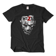 Summer new zombies doomsday survival sandbox game H1Z1 big runaway short sleeve t-shirt male tide loose half sleeve t shirt